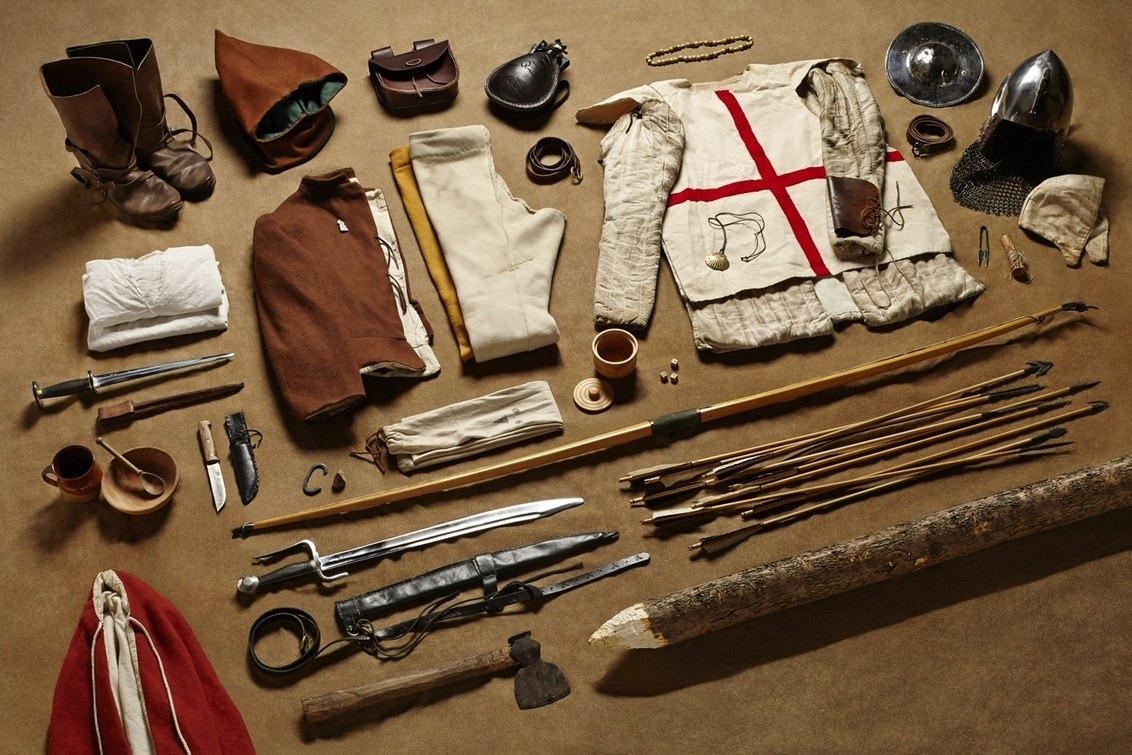 Экипировка английского воина во время битвы при Азенкуре, 1415 год