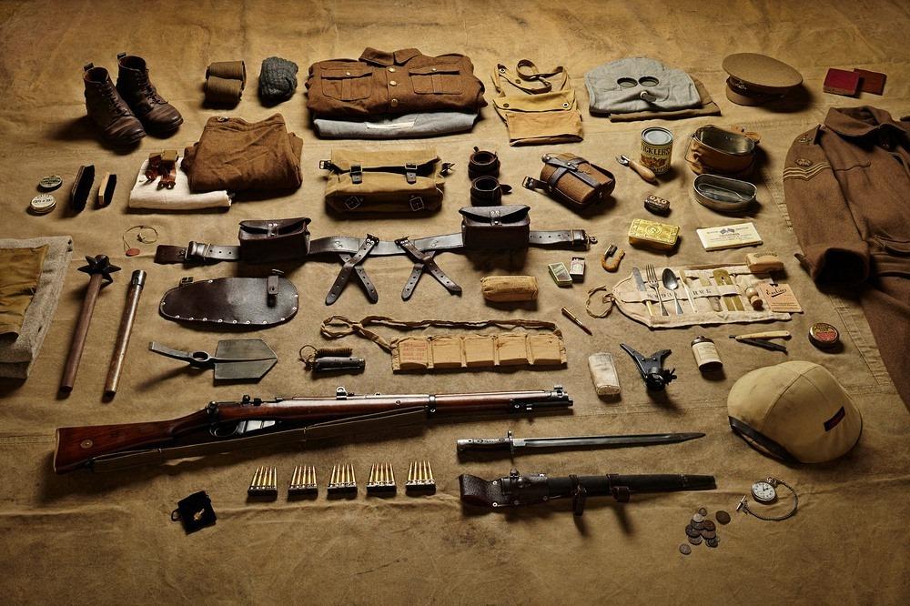 Амуниция рядового в битве на Сомме, 1916 год