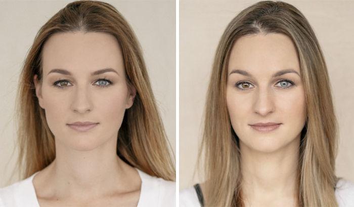 Портреты женщин до и после того, как они стали мамами
