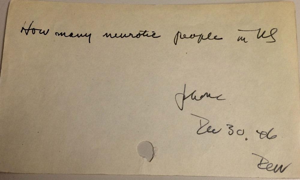 «Сколько невротиков в США?», 1946 год