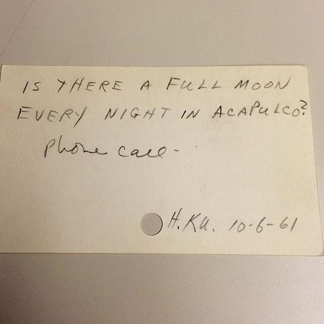 «В Акапулько каждую ночь полнолуние?», 1961 год
