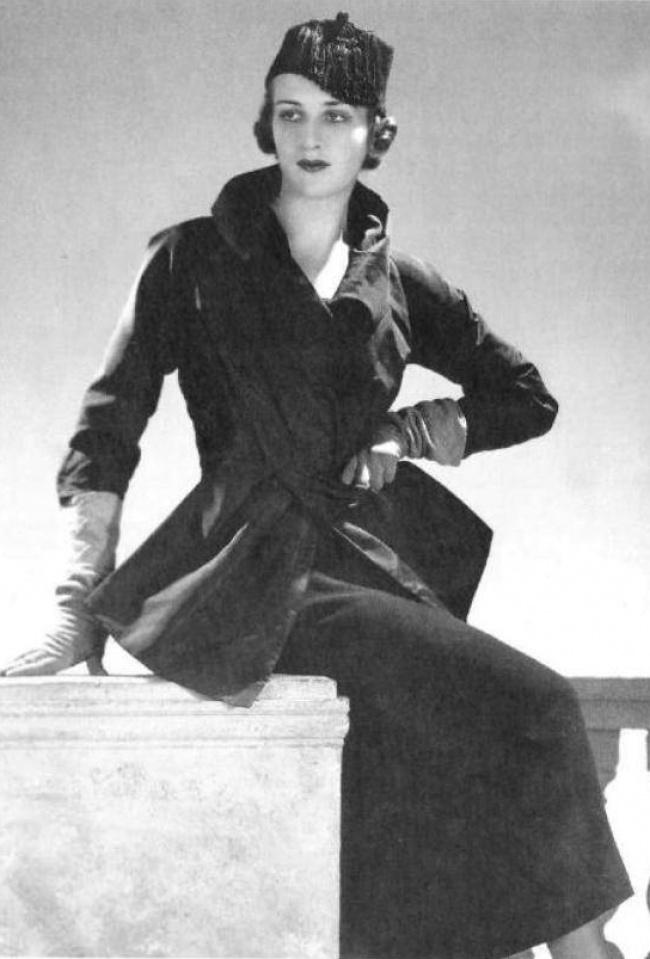 Женя де Кастекс в демисезонном наряде от Магги Руфф