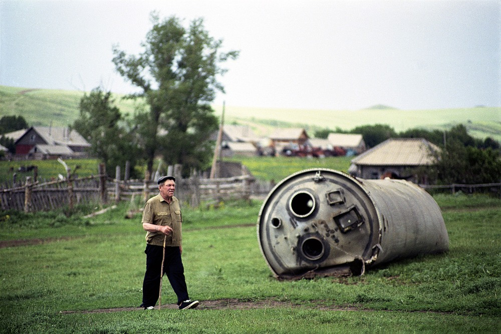 Часть ракеты вблизи населённого пункта