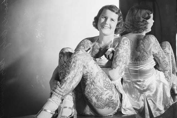Бетти Бродбент — самая татуированная женщина 20 века