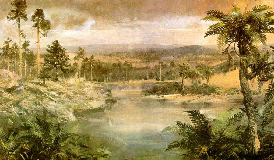 Триасово-юрское вымирание, около 200 млн лет назад