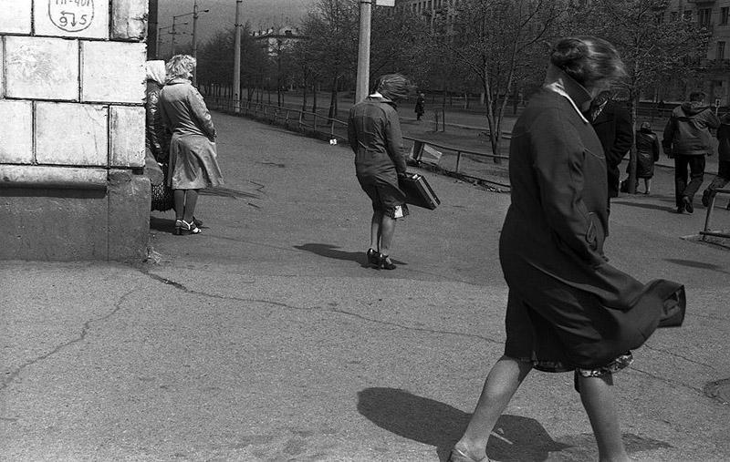 Ветреный день в Новокузнецке, 1983 год
