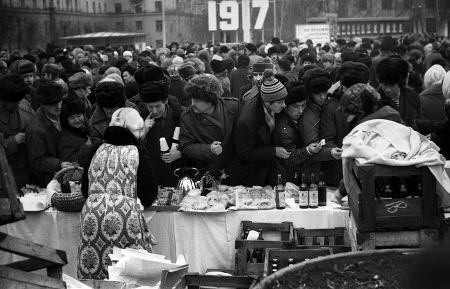 Торговля в Масленицу, 1984 год