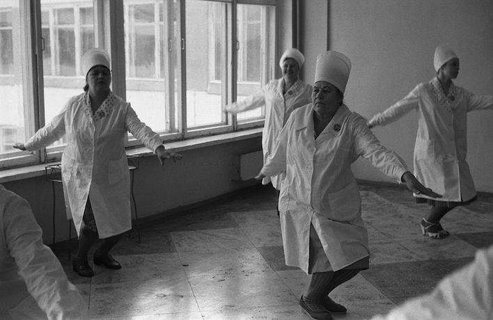 Соревнования Горпромторга по производственной гимнастике, 1983 год