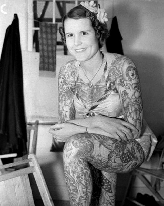 Бетти Бродбент - самая татуированная женщина 20 века