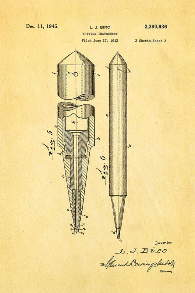 Ласло Биро - журналист, который изобрел современную шариковую ручку