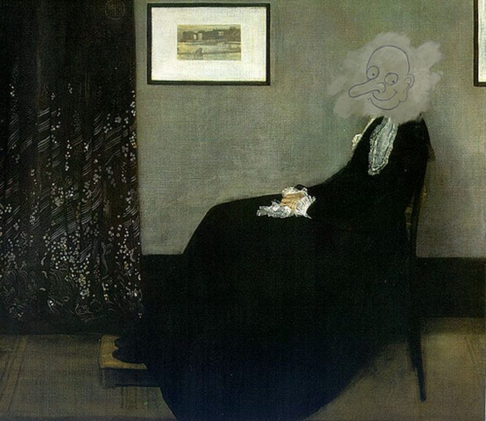 Картина «Мать Уистлера» в фильме «Мистер Бин», 1997