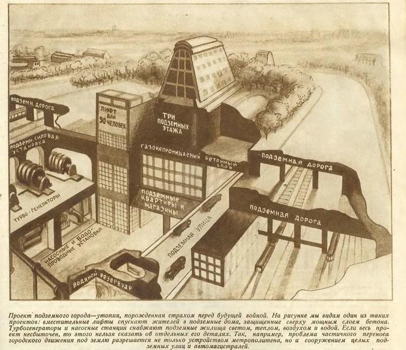 Подземные города для мирных жителей в военное время