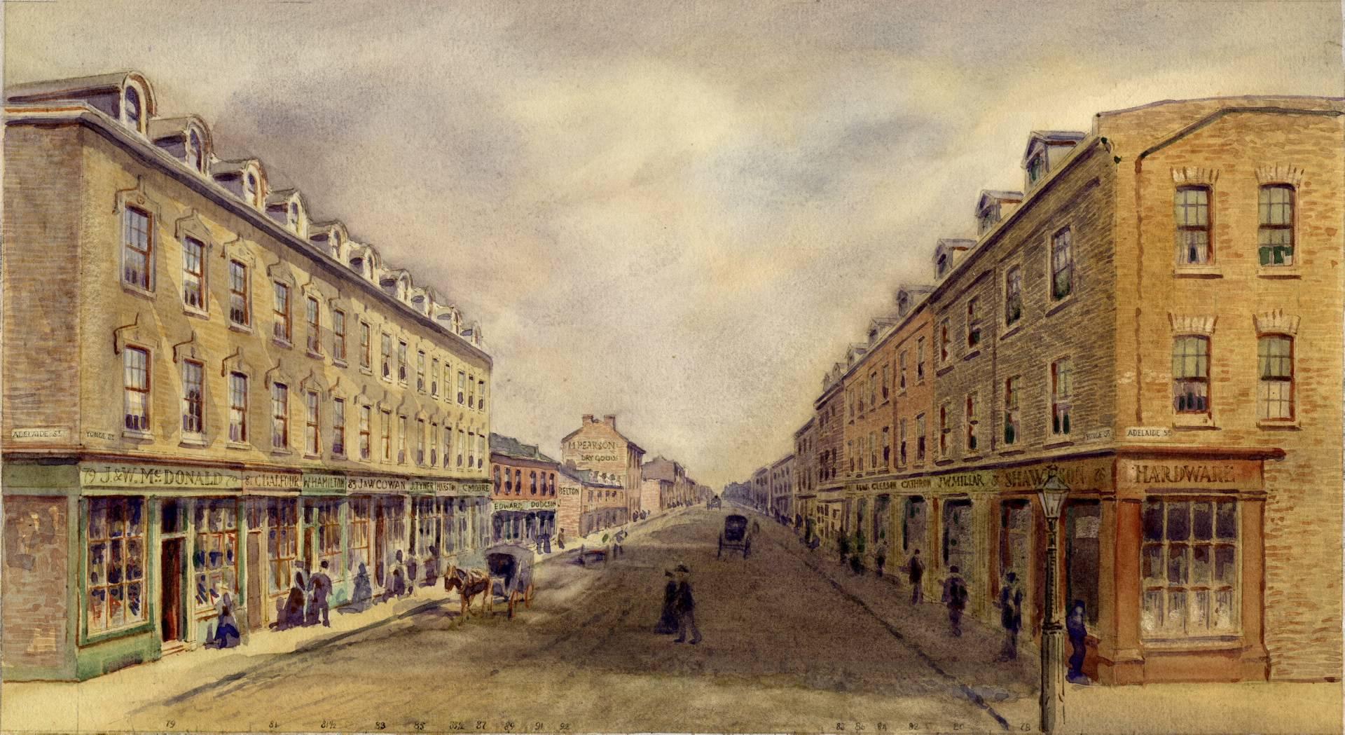 Торонто, Канада, 1856 год. Художник Owen Staples