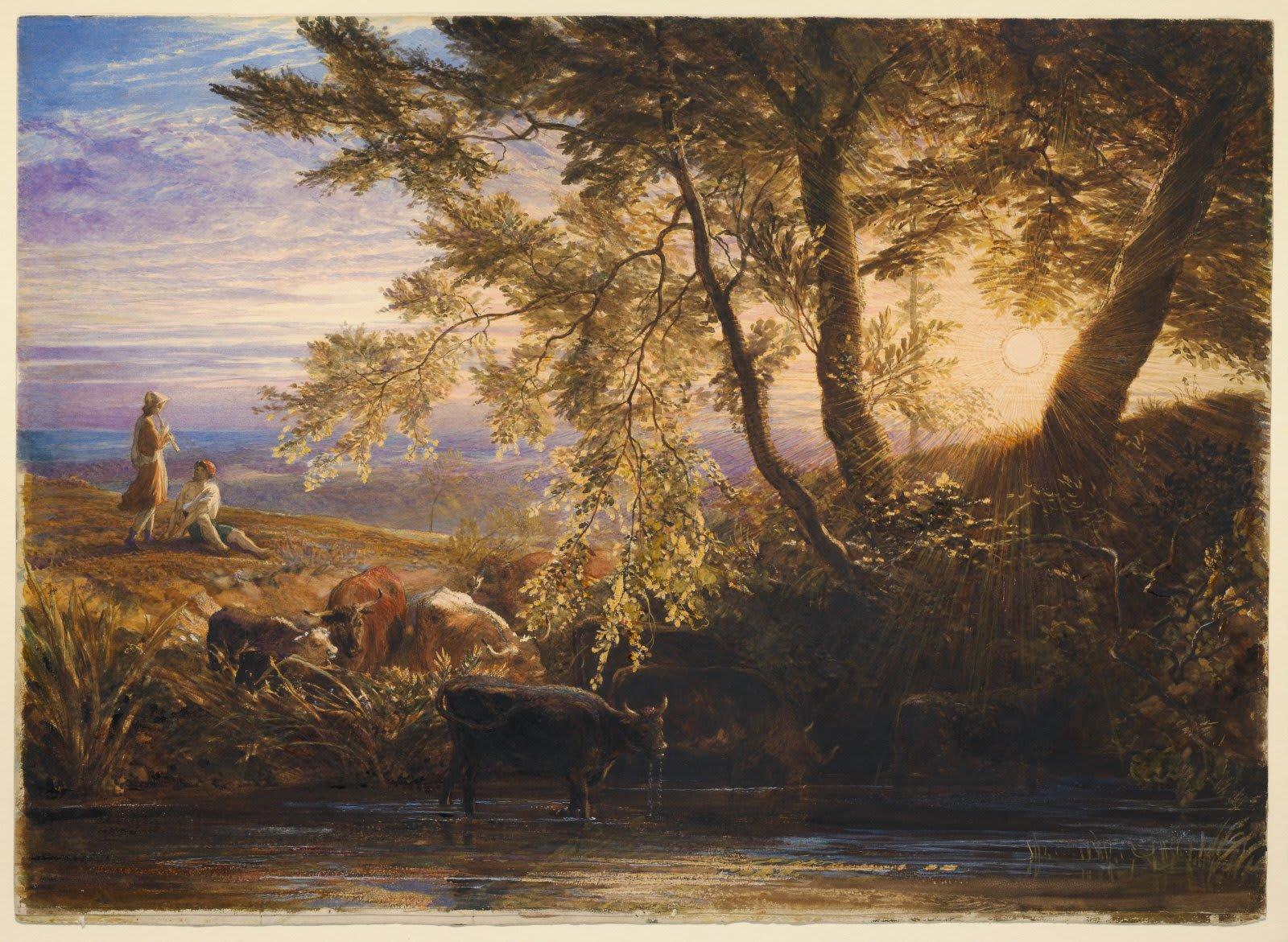 Англия, 1862 год. Художник Samuel Palmer