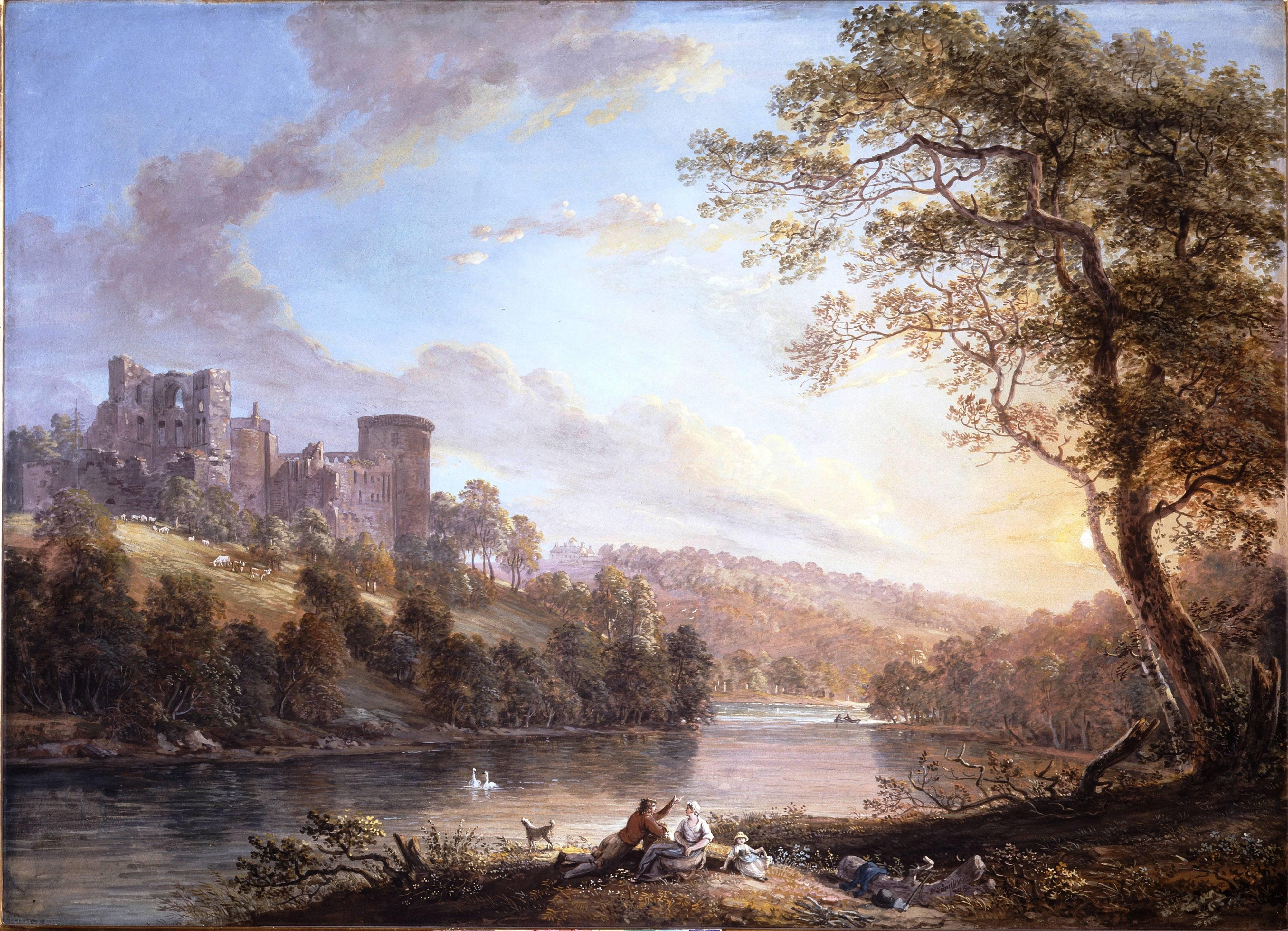 Замок Ботвелл, Шотландия, 1795 год. Художник Paul Sandby