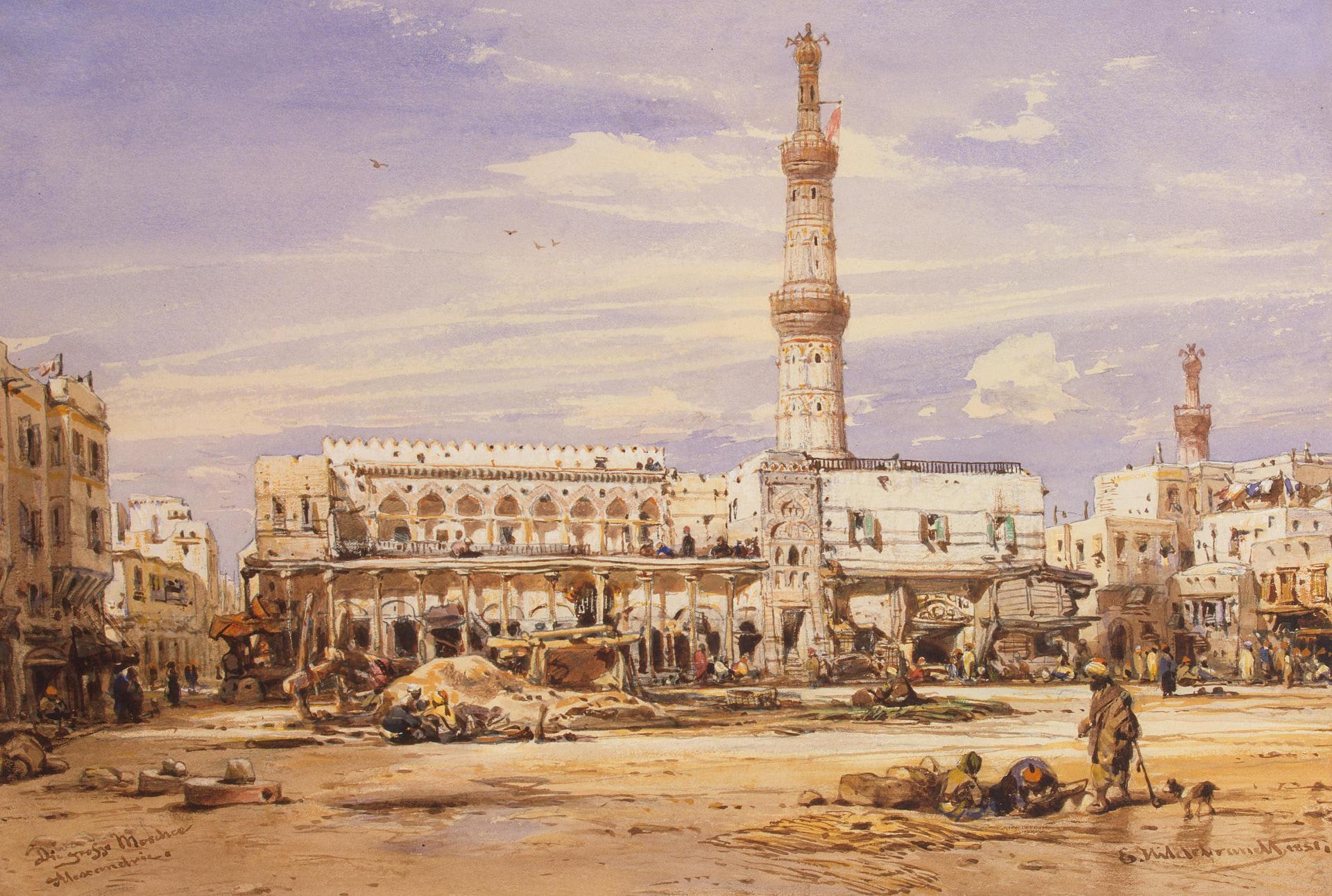 Александрия, Египет, 1851 год. Художник Eduard Hildebrandt