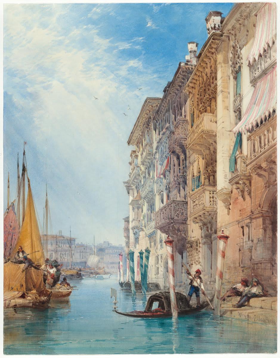 Венеция, 1866 год. Художник William Callow