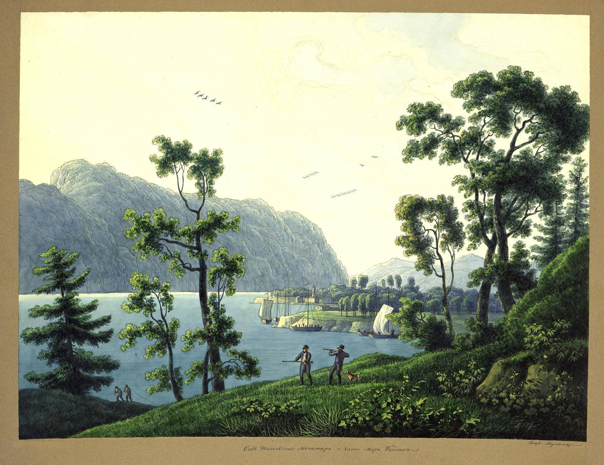 Озеро Байкал, Россия, 1806 год. Художник Андрей Мартынов