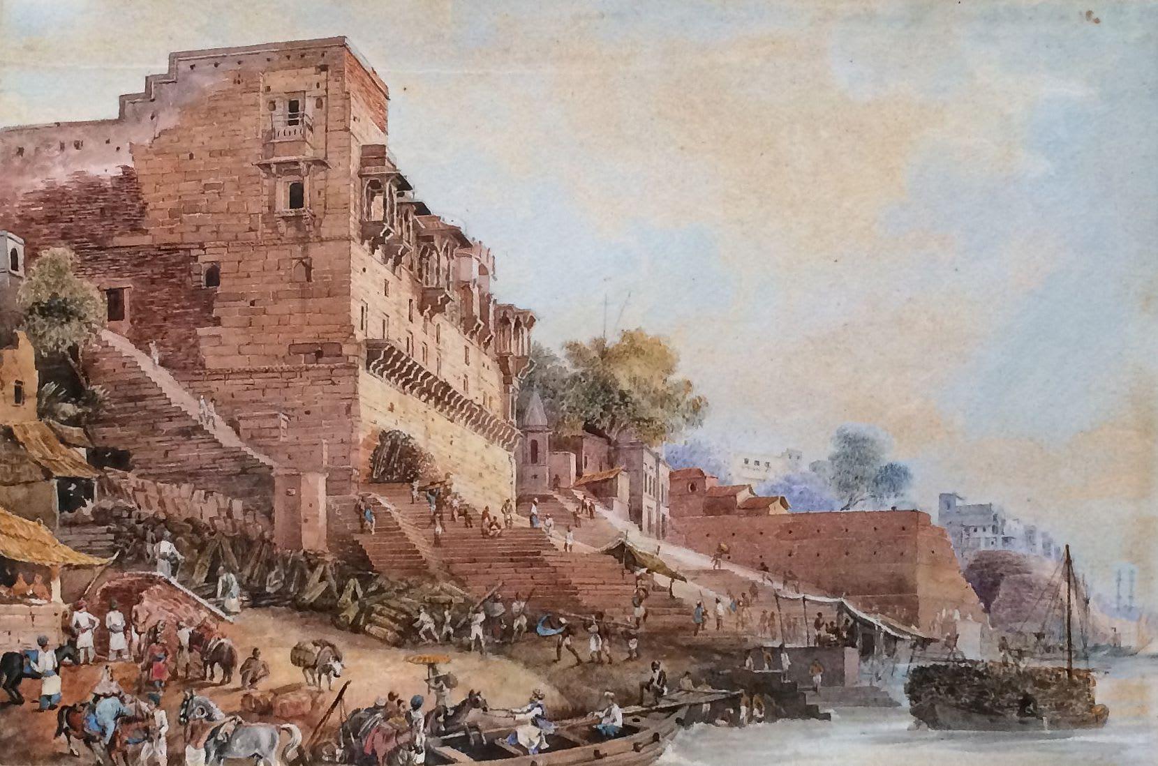 Варанаси, Индия, 1829 год. Художник James Prinsep