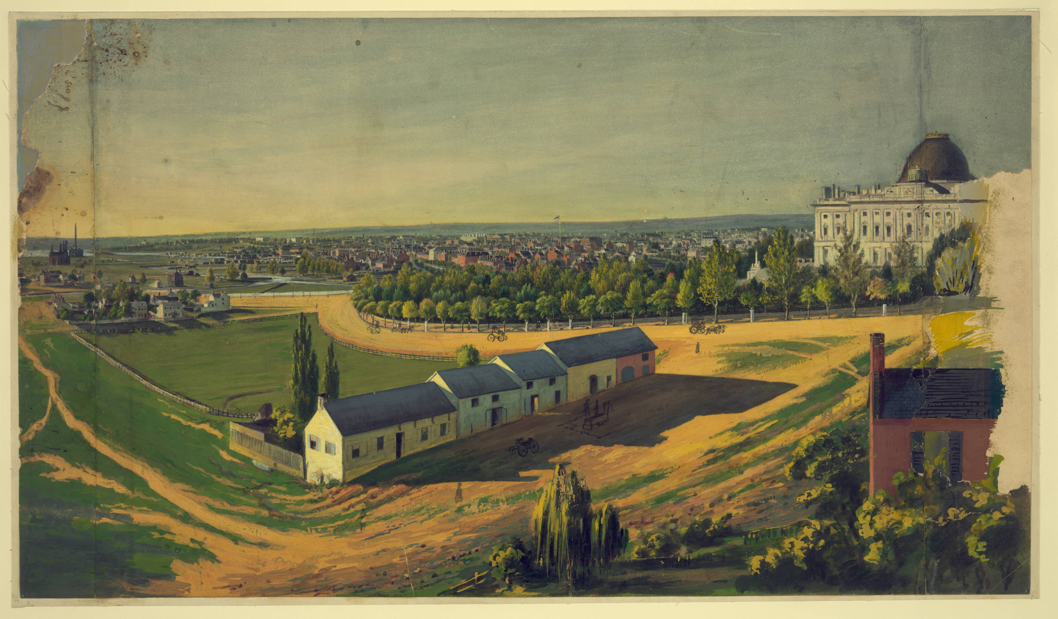 Вашингтон, США, 1846 - 1855 года. Художник Augustus Köllner