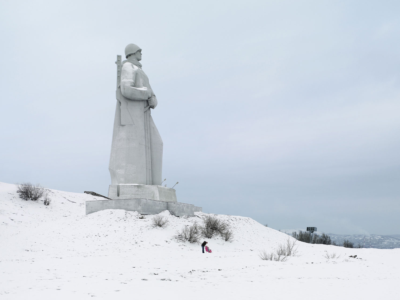 Мемориал «Защитникам Советского Заполярья в годы Великой Отечественной войны», Мурманск. Высота статуи 35, 5 метров