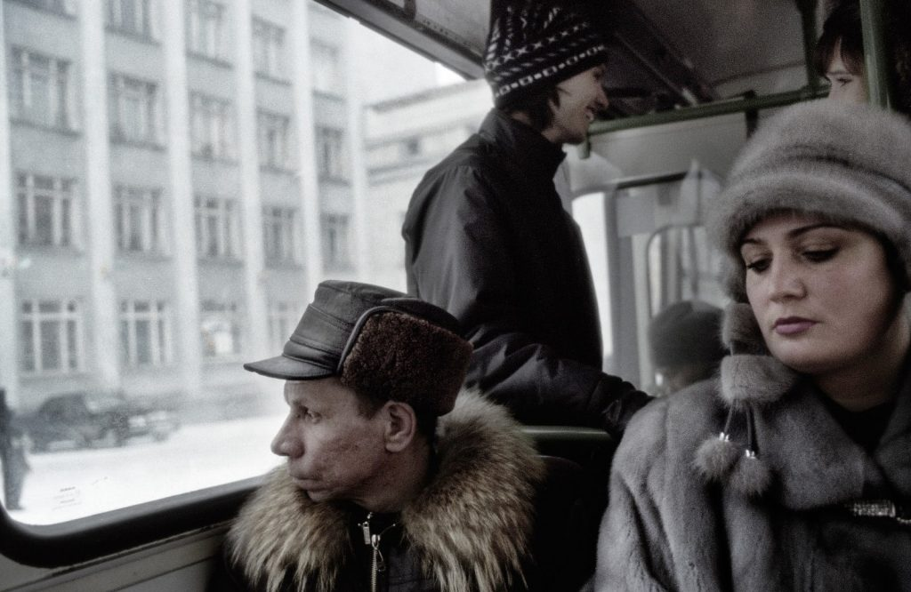 В автобусе на проспекте Ленина