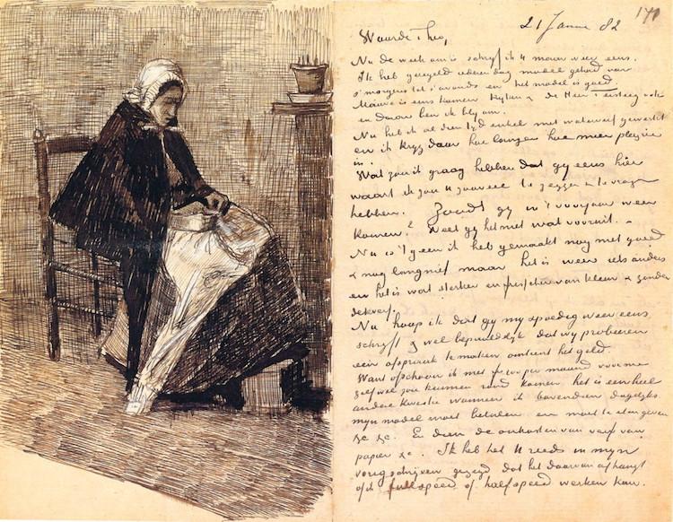 Письмо Тео ван Гогу