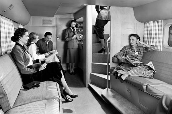 Внутри Boeing 377 Stratocruiser 1947 года, «самого большого и быстрого авиалайнера»