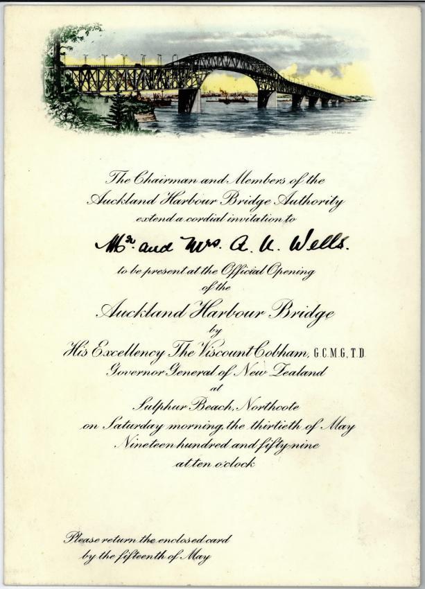 Приглашение на официальное открытие моста Харбор Бридж