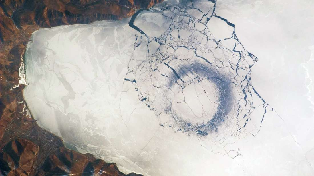 Загадочные кольца на Байкале