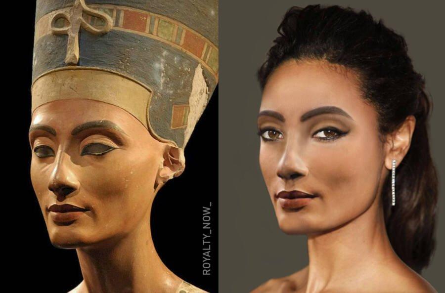 Нефертити - «главная супруга» древнеегипетского фараона Эхнатона
