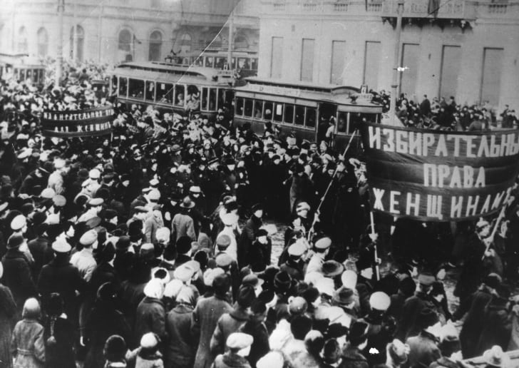 Забастовка женщин в 1917 году с требованием права голоса