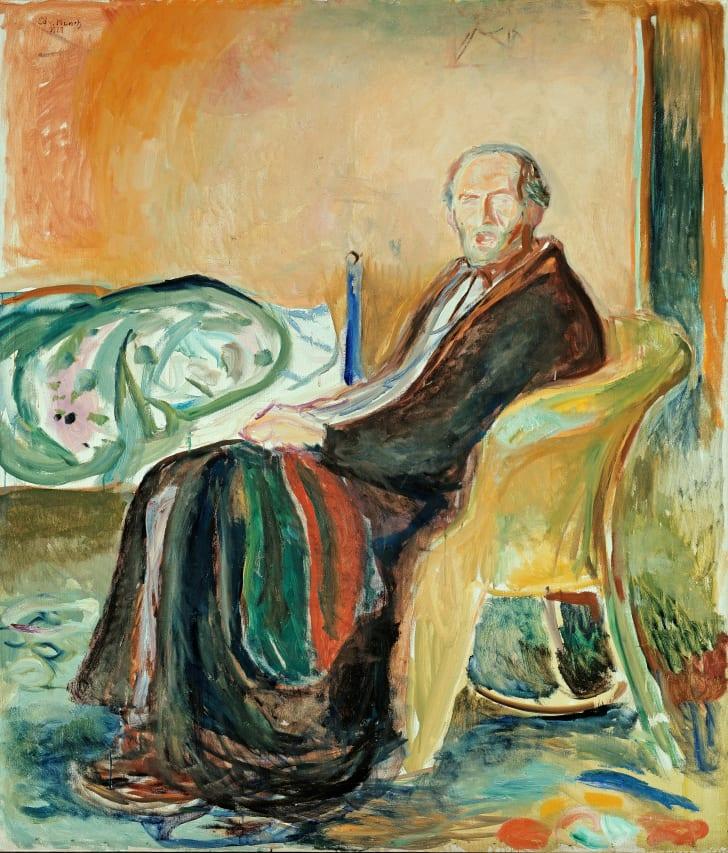 Эдвард Мунк, Автопортрет после испанского гриппа, 1919