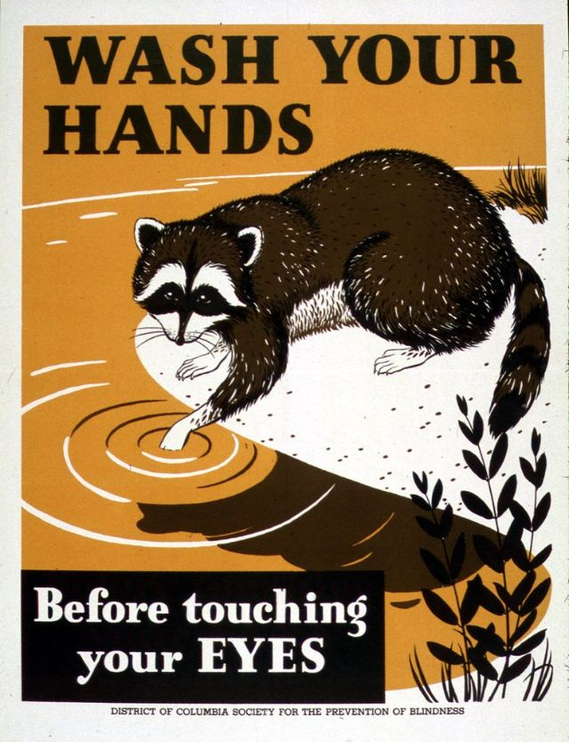 Винтажные агитационные плакаты мытья рук с 1920-х по 1940-е годы