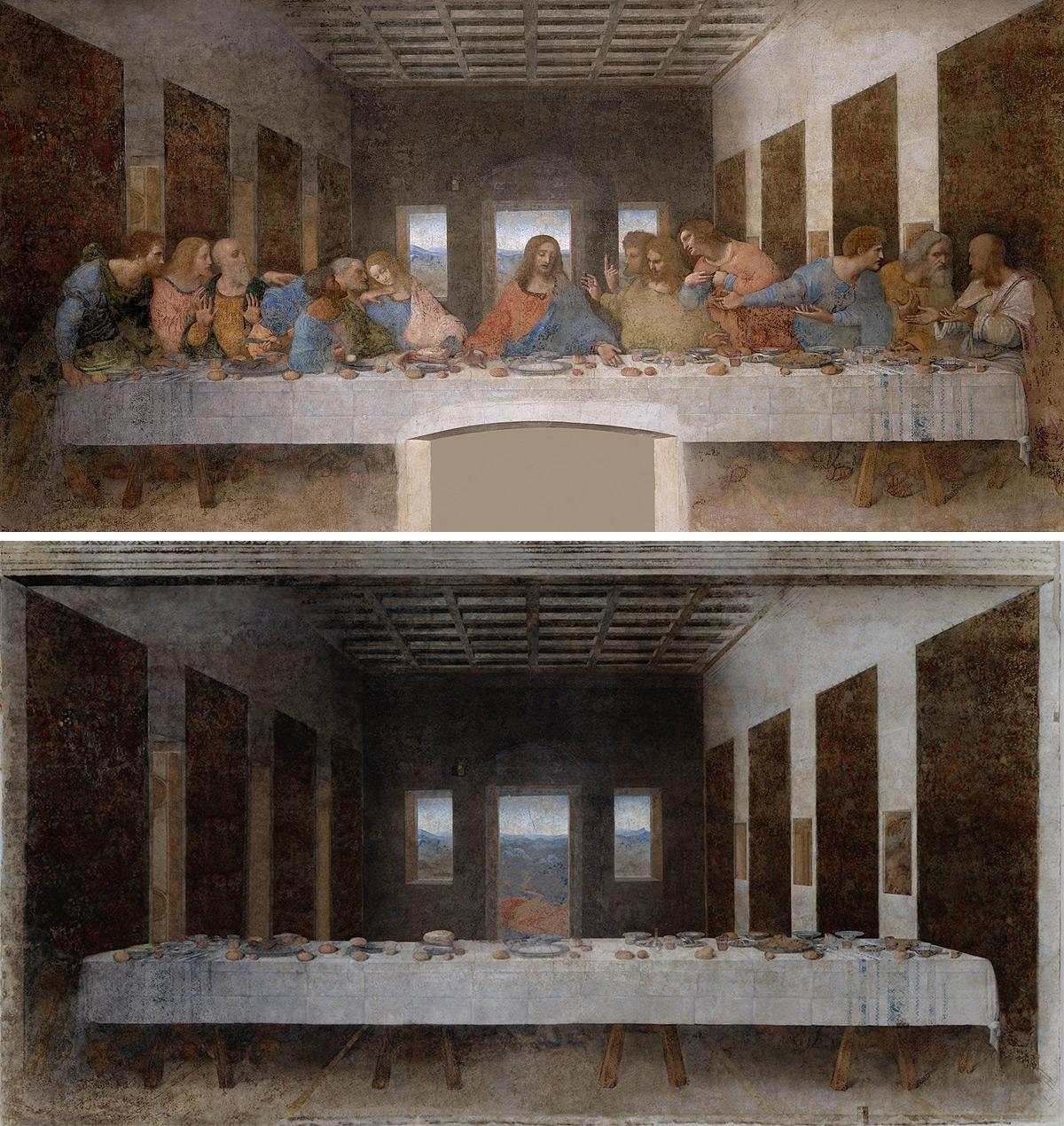 «Тайная вечеря», Леонардо да Винчи, 1498 г.