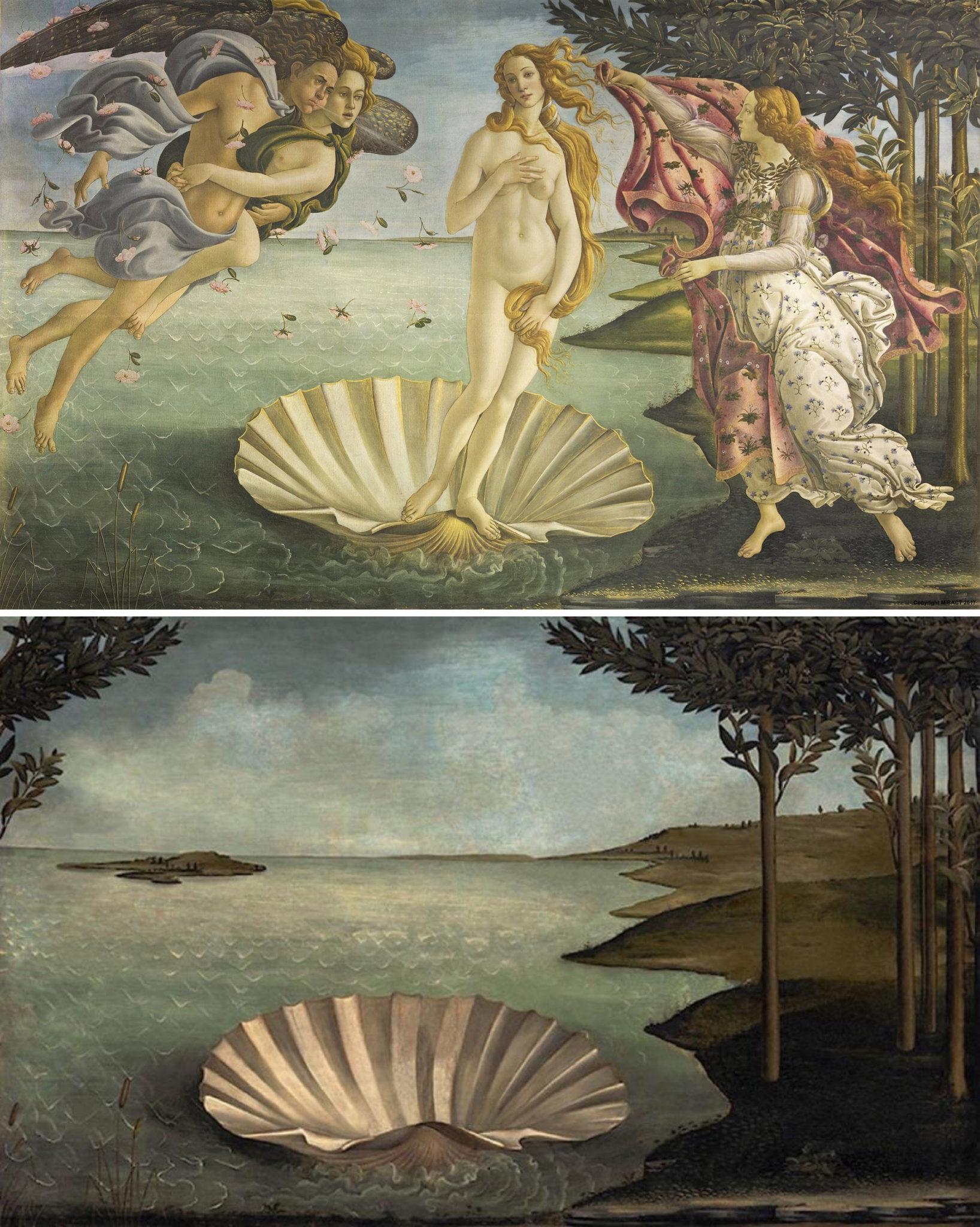 «Рождение Венеры», Сандро Ботичелли, 1486 г.