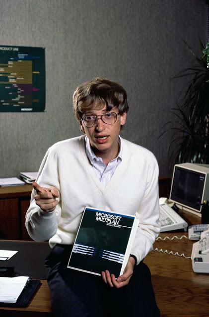 Старинные фотографии очень молодого Билла Гейтса в 1984 году