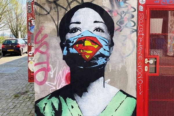 Уличные граффити о коронавирусе по всему миру