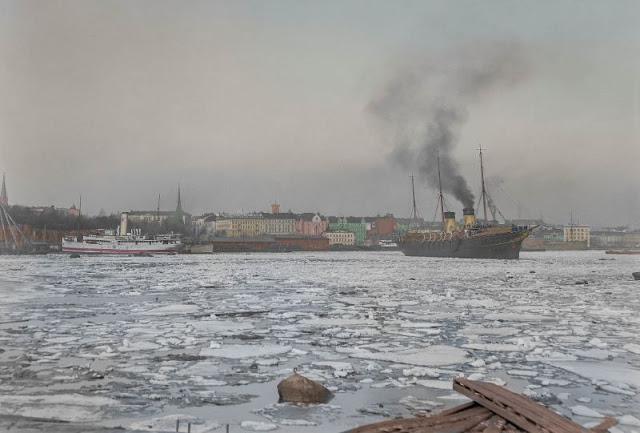 Императорская яхта «Штандарт» покидает Хельсинки
