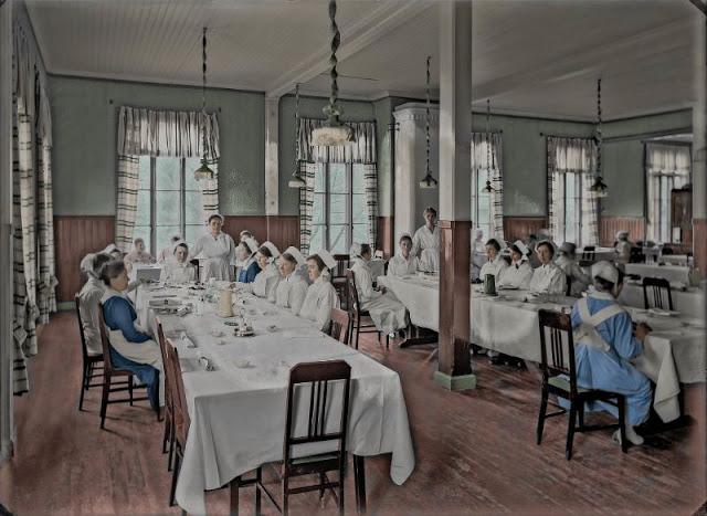 Столовая медсестёр в больнице Кивеля в Хельсинки