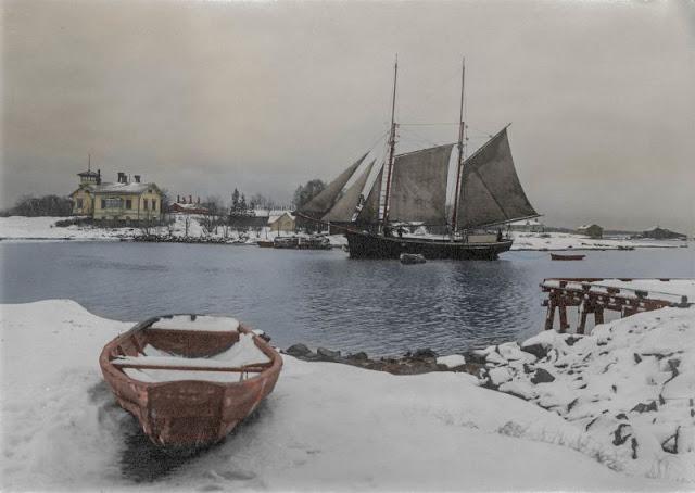 Зимний пейзаж в Хельсинки