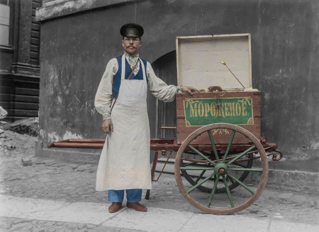 Российский продавец мороженого в Хельсинки