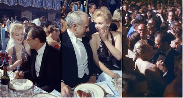 Винтажные фото Мэрилин Монро и её мужа Артура Миллера на балу в 1957 году