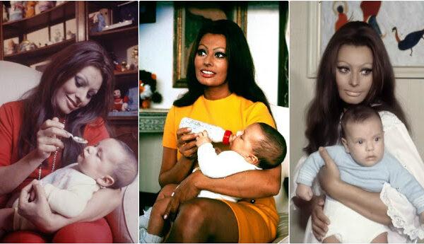Чудесные фотографии Софи Лорен и её сына, 1969 год