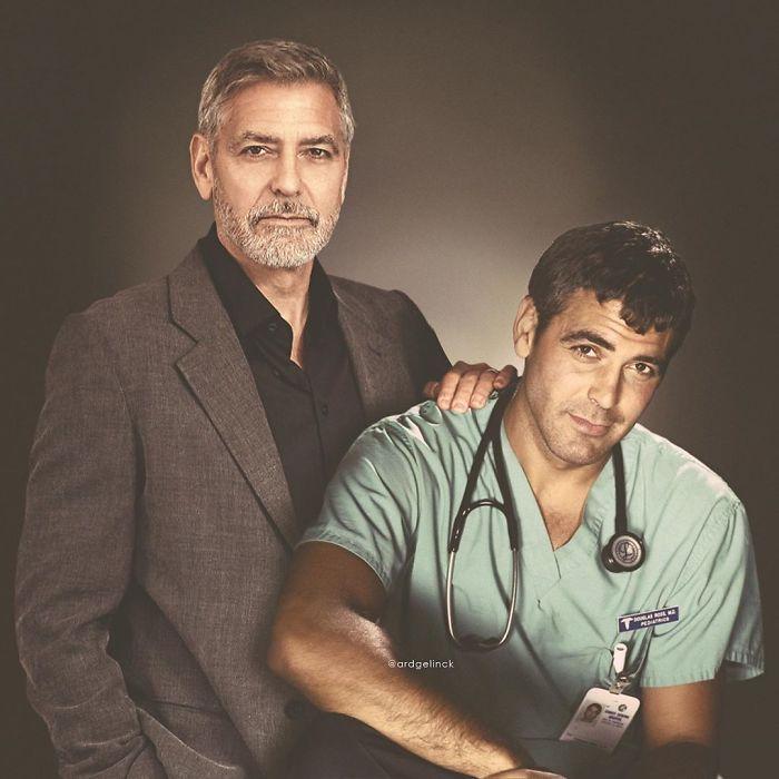 Джордж Клуни и его более молодая версия