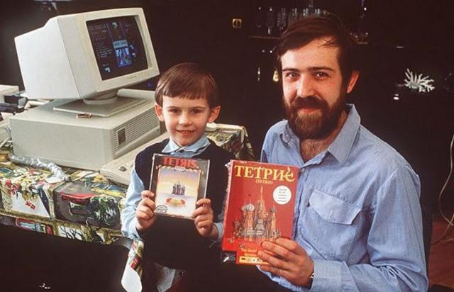 Алексей Пажитнов и его сын (1989)