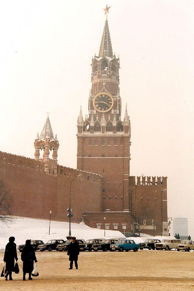 Москва, Спасская башня, Красная площадь