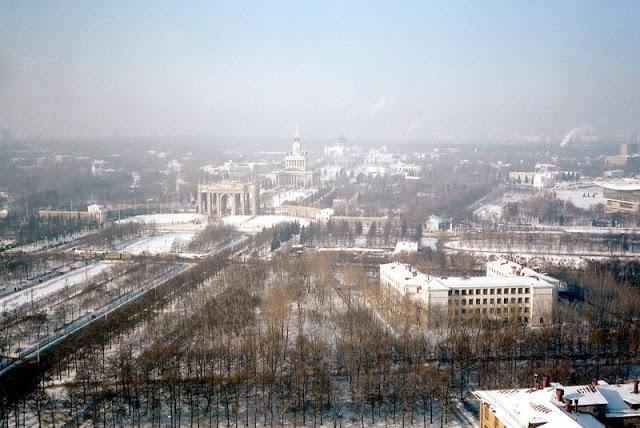 Москва, вид на ВДНХ
