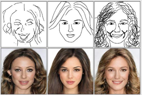 Искусственный интеллект превращает простые наброски в портретные фотографии