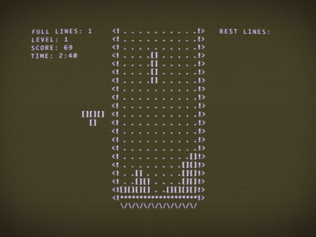 Тетрис, скриншот английской версии (1984)